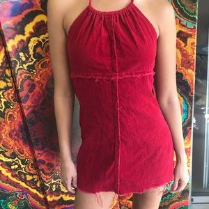 🍒❤️🉐⛔️ RED HOT MINI HALTER DRESS 🍒❤️🉐